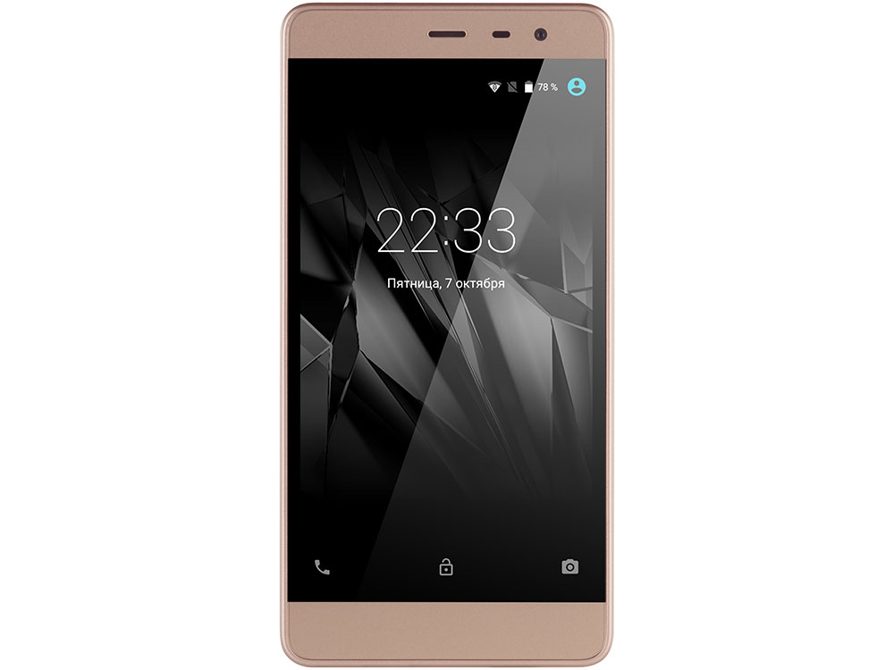 Смартфон Micromax Bolt Warrior 2 Q4202 Gold Snapdragon 210/1 Гб/8 Гб/5 (1280x720)/DualSim/3G/4G/BT/Android 6.0 смартфон micromax q3551 bolt juice темно серый