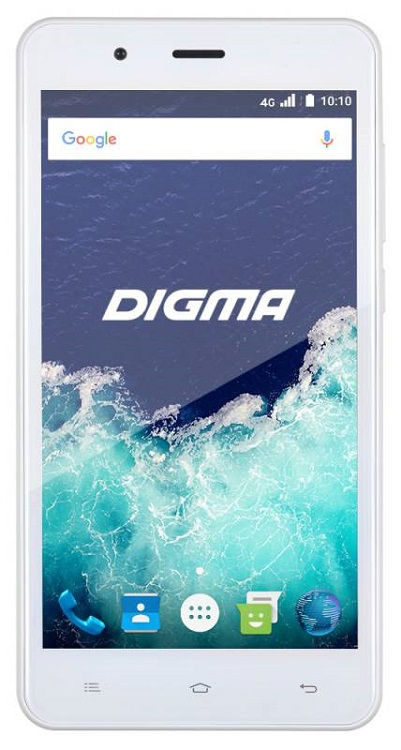 Смартфон Digma VOX S507 4G VS5022PL White Spreadtrum SC9832  (1.2)/8 Gb/1 Gb/5'' (1280x720)/DualSim/3G/4G/BT/Android 6.0 vox vss 1 bk