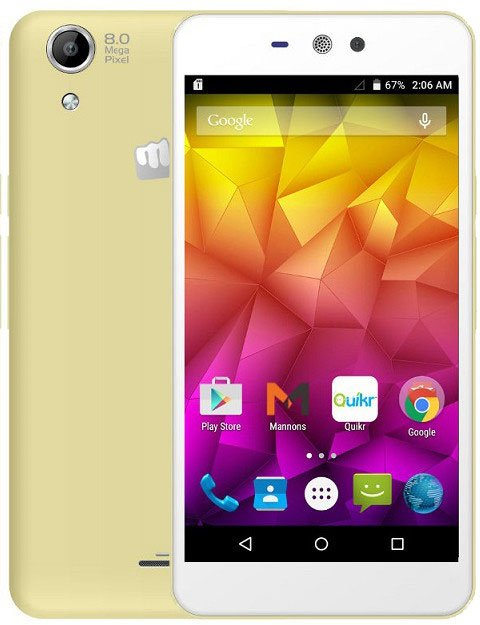Смартфон Micromax Q340 белый 5 8 Гб Wi-Fi GPS 3G смартфон micromax bolt q379 yellow