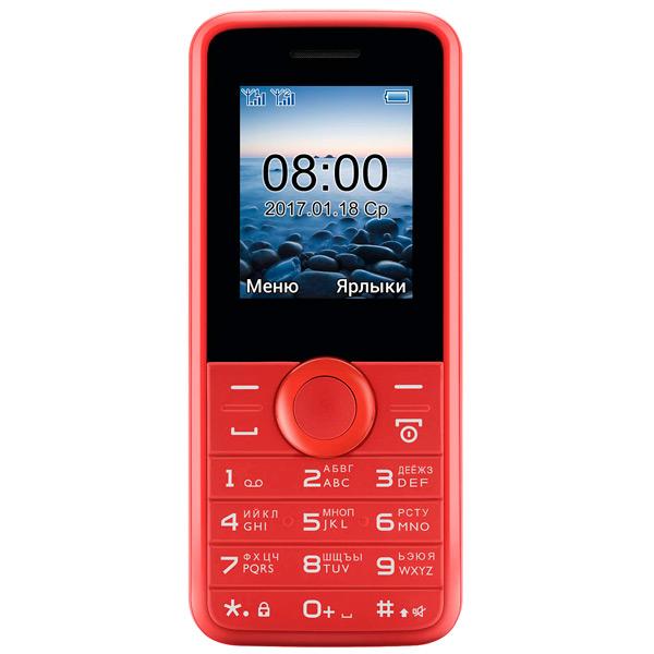 Мобильный телефон Philips E106 Red 1.77 (160x128)/DualSim/microSD мобильный телефон philips e106 black