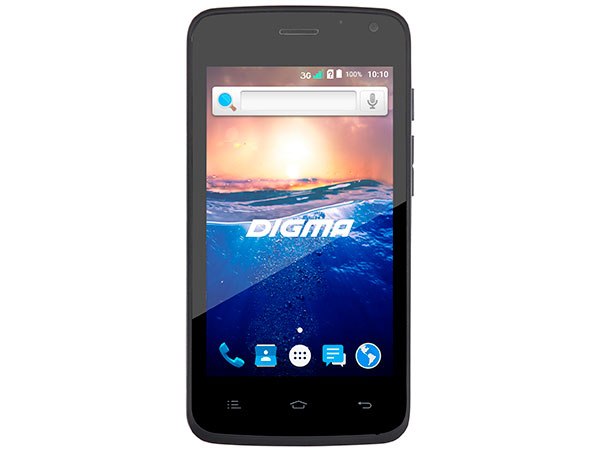 Смартфон Digma Q400 3G HIT Black Spreadtrum SC7731/512 Мб/4 Гб/4 (800x480)/DualSim/3G/BT/Android 6.0 digma e629 black