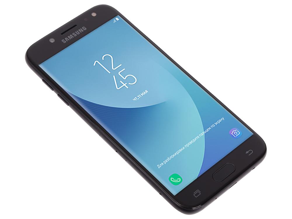Смартфон Samsung Galaxy J5 (2017) SM-J530F 16Gb черный моноблок 3G 4G 2Sim 5.2 1280x720 Android 7.0 планшет samsung galaxy tab a sm t585n 2gb 16gb 3g 4g android 6 0 белый [sm t585nzwaser]
