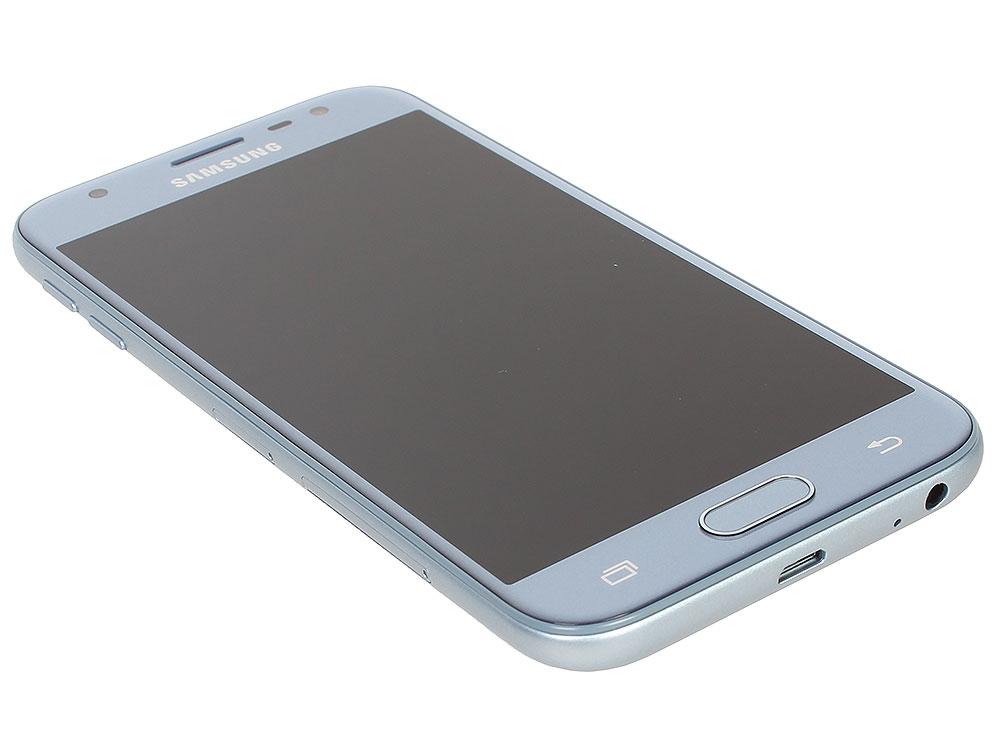 Смартфон Samsung Galaxy J3 (2017) SM-J330F голубой дисплей samsung sm j320f galaxy j3 gold