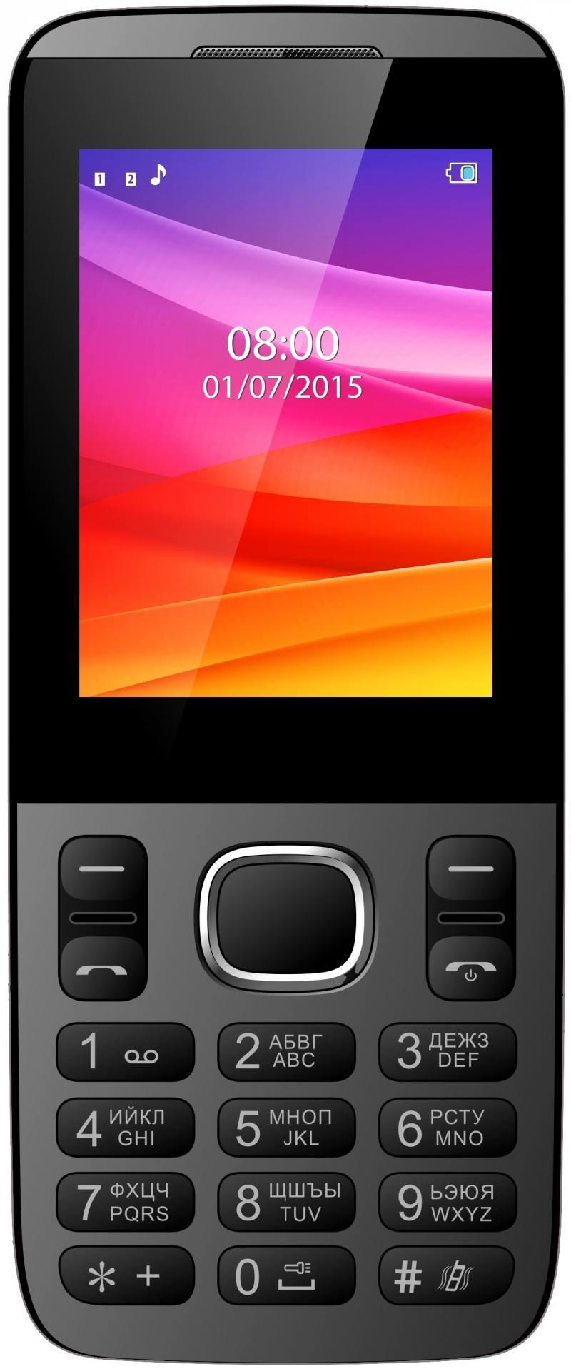 Мобильный телефон Vertex D503 черный 2.4 vertex vertex impress lion 4g