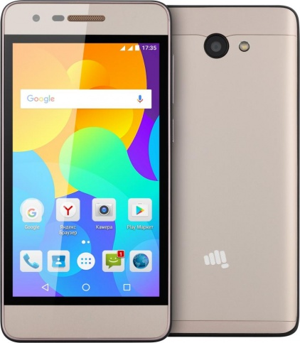 Смартфон Micromax Q3551 champagne Spreadtrum SC7731 (1.2)/8 Gb/1 Gb/4.5 (854 x 480)/DualSim/3G/BT/Android 6.0 сотовый телефон micromax q3551 champagne