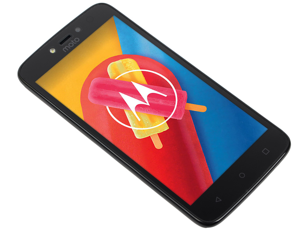 Смартфон Motorola MOTO C Plus XT1723 5 HD IPS/1280х720/MediaTek MT6737 1.3Ghz/1GB/16GB/4G LTE/WiFi/BT/SD/8MP/Android 7.0/Starry Black смартфон motorola moto c xt1754 16gb черный pa6l0083ru