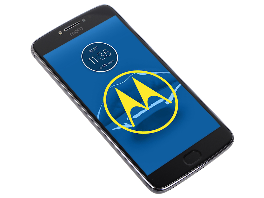 Смартфон Motorola MOTO E Plus (XT1771) Iron Grey MediaTek MT6737 1.3Ghz/3GB/16GB/5.5 IPS 1280х720/LTE/WiFi/BT/13MP/Fingerprint sensor/Android 7.0 сотовый телефон motorola moto e4 plus xt1771 iron grey