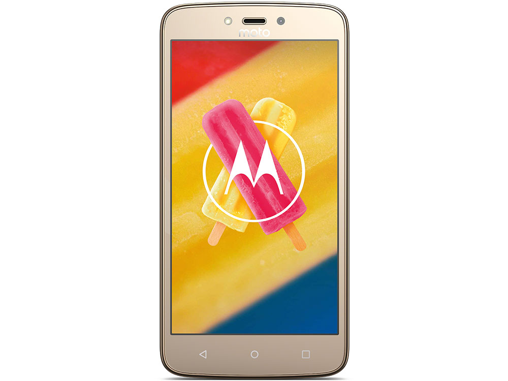 Смартфон Motorola MOTO C Plus XT1723 5 HD IPS/1280х720/MediaTek MT6737 1.3Ghz/1GB/16GB/4G LTE/WiFi/BT/SD/8MP/Android 7.0/Whole Gold смартфон motorola moto c xt1754 16gb черный pa6l0083ru