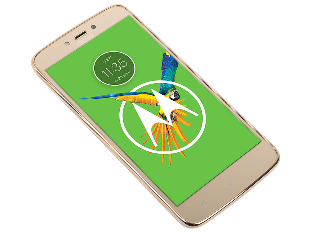 Смартфон Motorola MOTO C Plus XT1723 5 HD IPS/1280х720/MediaTek MT6737 1.3Ghz/1GB/16GB/4G LTE/WiFi/BT/SD/8MP/Android 7.0/Whole Gold original unlock huawei e5573s 606 portable lte fdd mobile wifi 150mbps 4g wireless router with sim card slot plus antenna