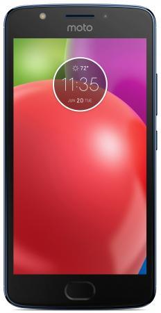 Смартфон Motorola Moto E синий 5 16 Гб LTE Wi-Fi GPS 3G XT1762  PA750050RU смартфон asus zenfone live zb501kl золотистый 5 32 гб lte wi fi gps 3g 90ak0072 m00140