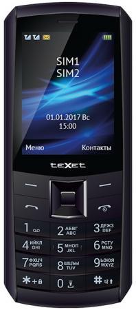 Мобильный телефон Texet TM-D328D черный 2.8