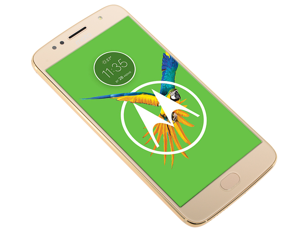 Смартфон Motorola MOTO G5S (XT1794) Fine Gold Qualcomm MSM8937 1.4Ghz/3GB/32GB/5.2 1920х1080 IPS//LTE/Dual SIM/WiFi/BT/SD/16MP/Fingerprint/ANdroid 7.1