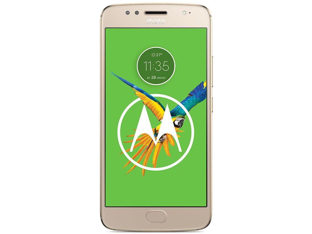 Смартфон Motorola MOTO G5S (XT1794) Fine Gold Qualcomm MSM8937 1.4Ghz/3GB/32GB/5.2 1920х1080 IPS//LTE/Dual SIM/WiFi/BT/SD/16MP/Fingerprint/ANdroid 7.1 moto e4 plus xt1771 fine gold