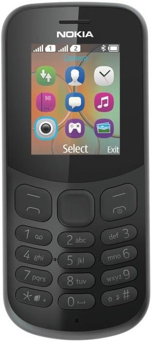 """Мобильный телефон NOKIA 130 Dual Sim (2017) Black 1.8""""/DualSim/BT/microSD"""