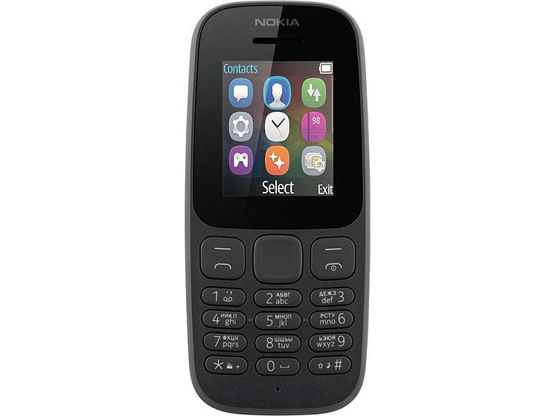Мобильный телефон Nokia 105 DS Black (2017) мобильный телефон nokia 216 ds black черный