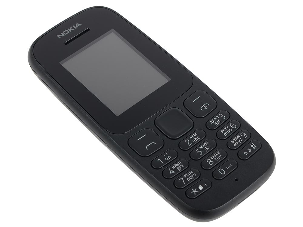 Мобильный телефон Nokia 105 DS Black (2017) мобильный телефон nokia 105 ds white 2017 a00028316