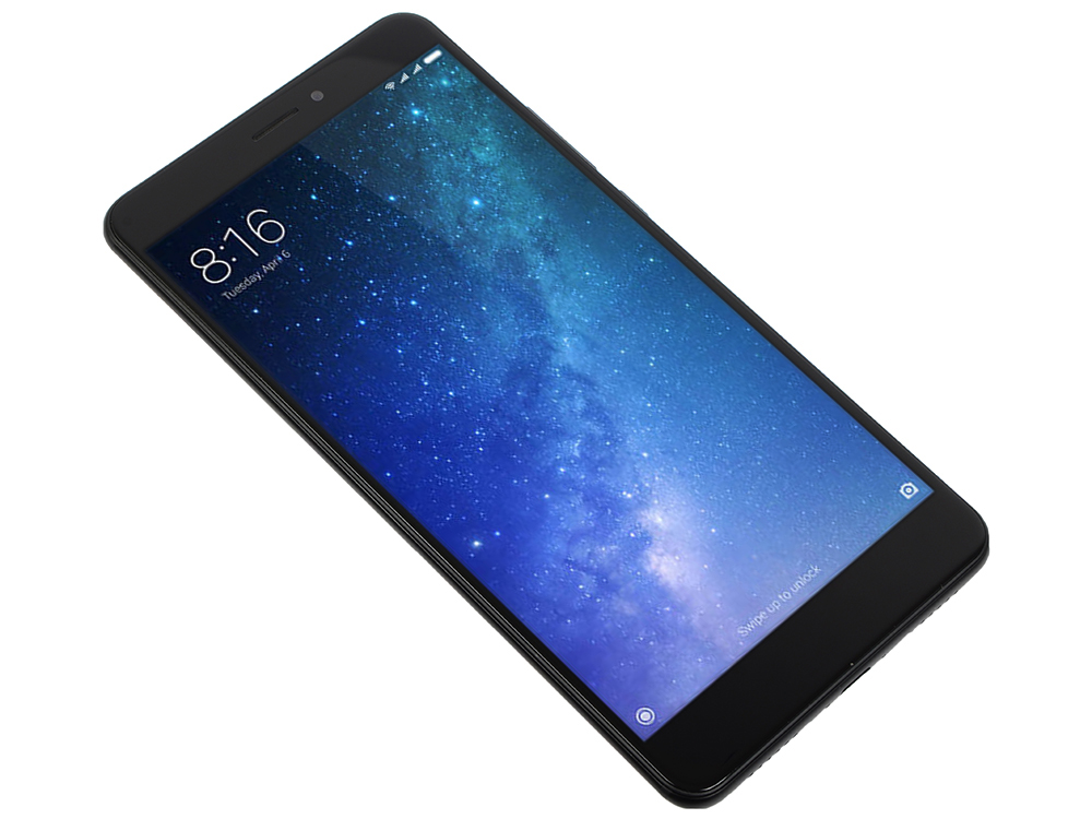 Смартфон Xiaomi Mi Max 2 Black 8 Core(2.0GHz)/4GB/64GB/6.44'' 1920x1080/2 Sim/3G/LTE/IRDA/BT/Wi-Fi/GPS/Android смартфон xiaomi mi5s plus розовое золото 5 7 64 гб lte wi fi gps 3g mi5spl64gbrgd