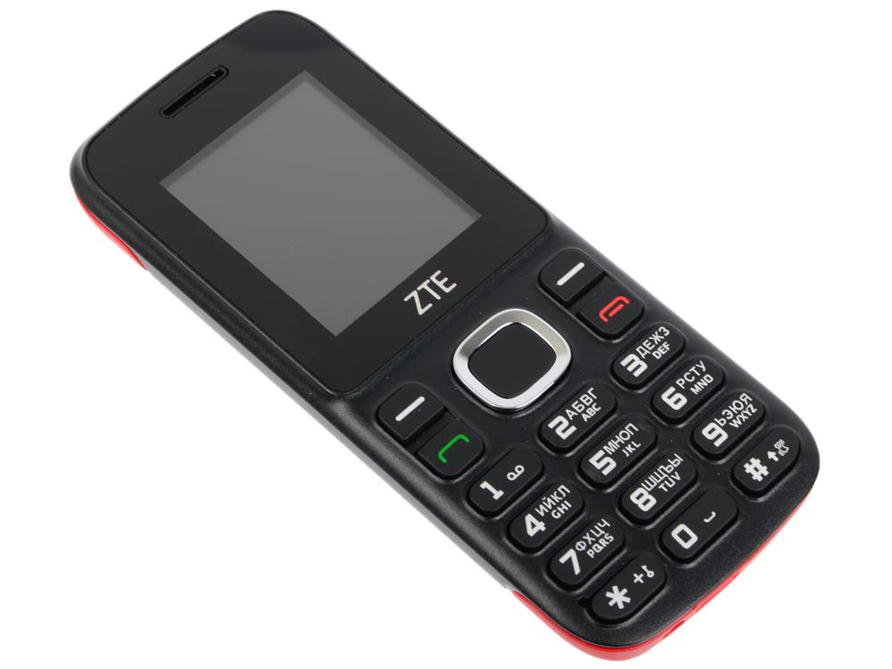 Мобильный телефон ZTE R550 Black/Red 4 Mb/1.8'' (128x160)/DualSim/microSD/2G/BT мобильный телефон zte n1 золотистый
