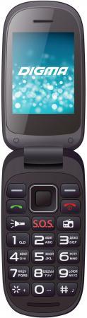 Мобильный телефон Digma A200 2G Linx черный моноблок 2Sim 2.4 240x320 0.3Mpix BT GSM900/1800 digma first xs350 2g
