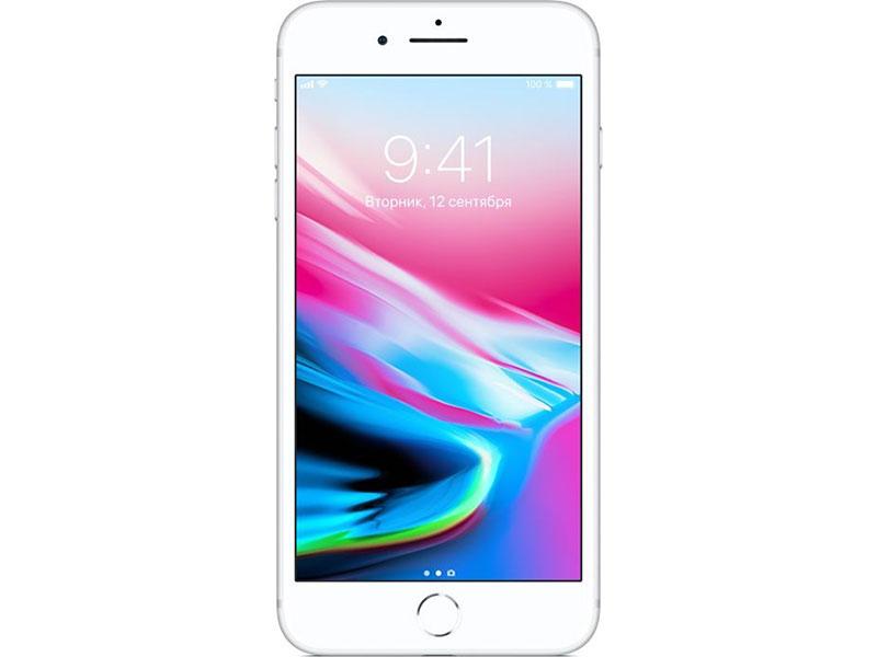 Смартфон Apple iPhone 8 Plus 64Gb Silver MQ8M2RU/A Apple A11/3 Gb/64 Gb/5.5(1920x1080)/12+12Mpix/3G/4G/BT/iOS 11 купить apple iphone 5 64gb black gold