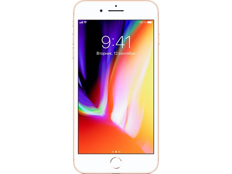 Смартфон Apple iPhone 8 Plus 256Gb Gold MQ8R2RU/A Apple A11/3 Gb/256 Gb/5.5(1920x1080)/12+12Mpix/3G/4G/BT/iOS 11 apple iphone 6 silver 64 gb mg4h2ru a