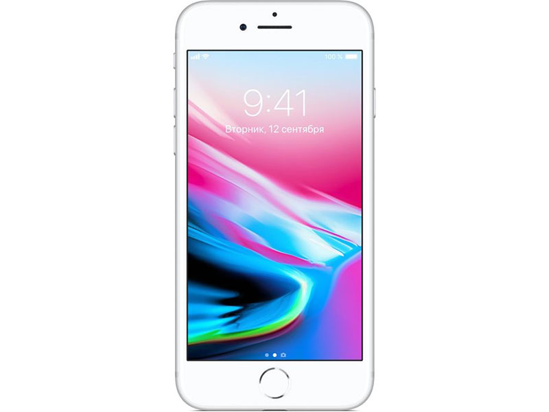 Смартфон Apple iPhone 8 256Gb Silver MQ7D2RU/A Apple A11/2 Gb/ 256 Gb/4.7(1334x750)/12Mpix/3G/4G/BT/iOS 11 смартфон asus zenfone 3 zoom ze553kl 64gb черный 90az01h3 m00690