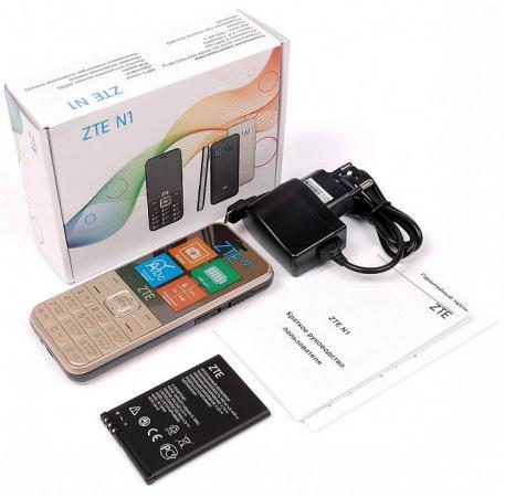 Мобильный телефон ZTE N1 золотистый 2.4
