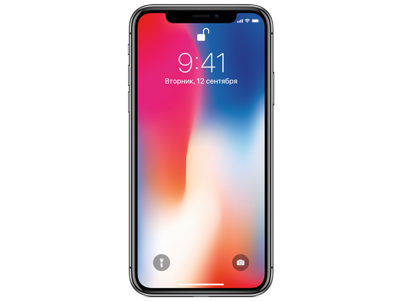Смартфон Apple iPhone X 64GB Space Grey MQAC2RU/A Apple A11/3 Gb/ 64 Gb/5.8(2436x1125)/12+12Mpix/3G/4G/BT/iOS 11