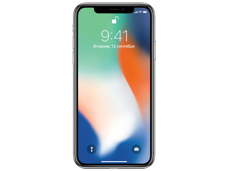 Смартфон Apple iPhone X 64GB Silver MQAD2RU/A Apple A11/3 Gb/ 64 Gb/5.8(2436x1125)/12+12Mpix/3G/4G/BT/iOS 11 apple iphone 6 silver 64 gb mg4h2ru a