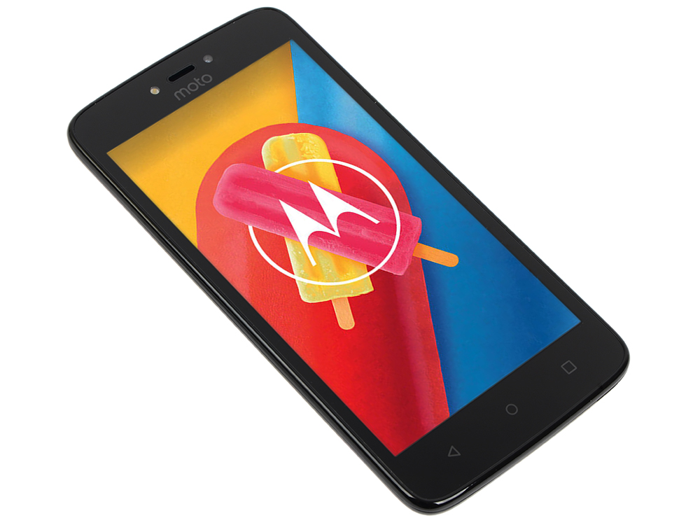Смартфон Motorola MOTO C XT1750 5 FWVGA/854х480/MediaTek MT6737M 1,1Ghz/1GB/8GB/3G/WiFi/BT/SD/5MP/Android 7.0/Starry Black смартфон motorola moto c 4g xt1754 metallic cherry