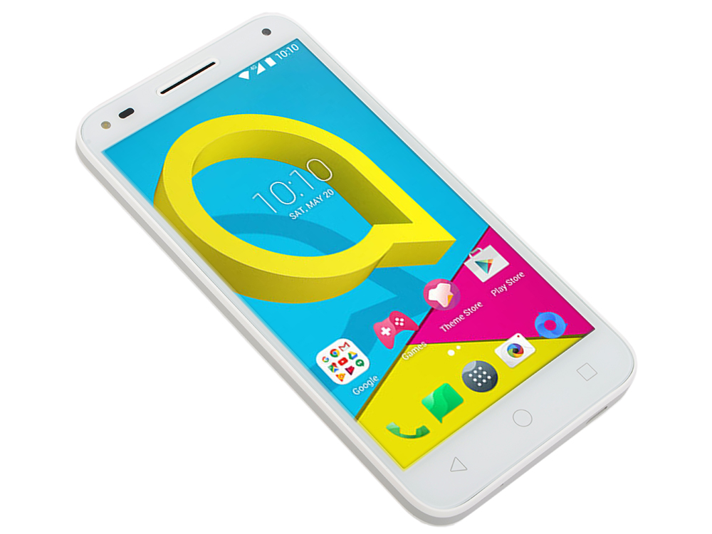 Смартфон Alcatel U5 3G (4047D) WHITE+LIGHT GRAY Mediatek MT6737M (1.1)/1Gb/8Gb/5