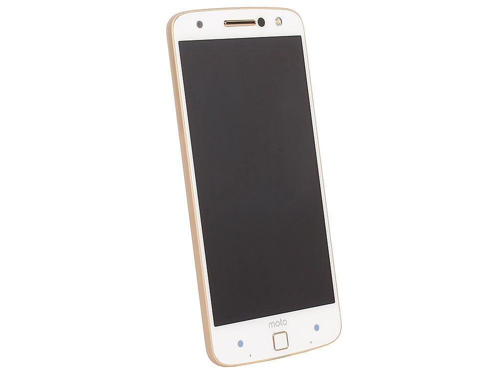 KIT Смартфон Motorola MOTO Z XT1650 White&Gold + WoodPanel ASMCAPWDOKEU, 5.5 QHD/ 2560х1440/Qualcomm Snapdragon 820/4GB/32GB/Dual SIM/SD/LTE/WiFi/B смартфон motorola moto e4 plus 16gb lte dual sim gold