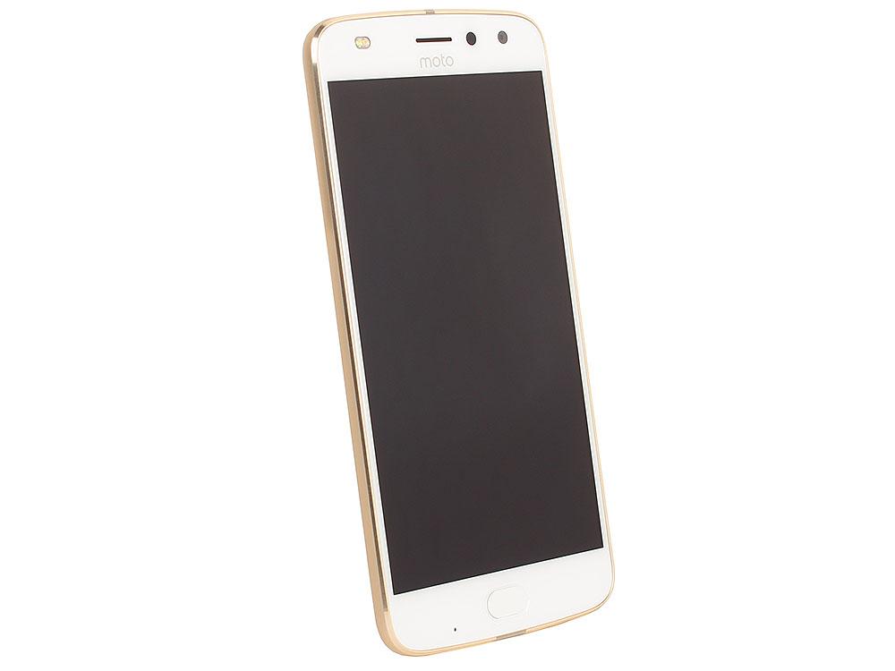 KIT Смартфон Motorola MOTO Z2 Play XT1710 Fine Gold + WoodPanel ASMCAPCHAHEU, 5.5 FullHD/1920х1080/Qualcomm Snapdragon 626/4GB/64GB/Dual SIM/SD/LTE/ moto z play xt1710 09 white gold