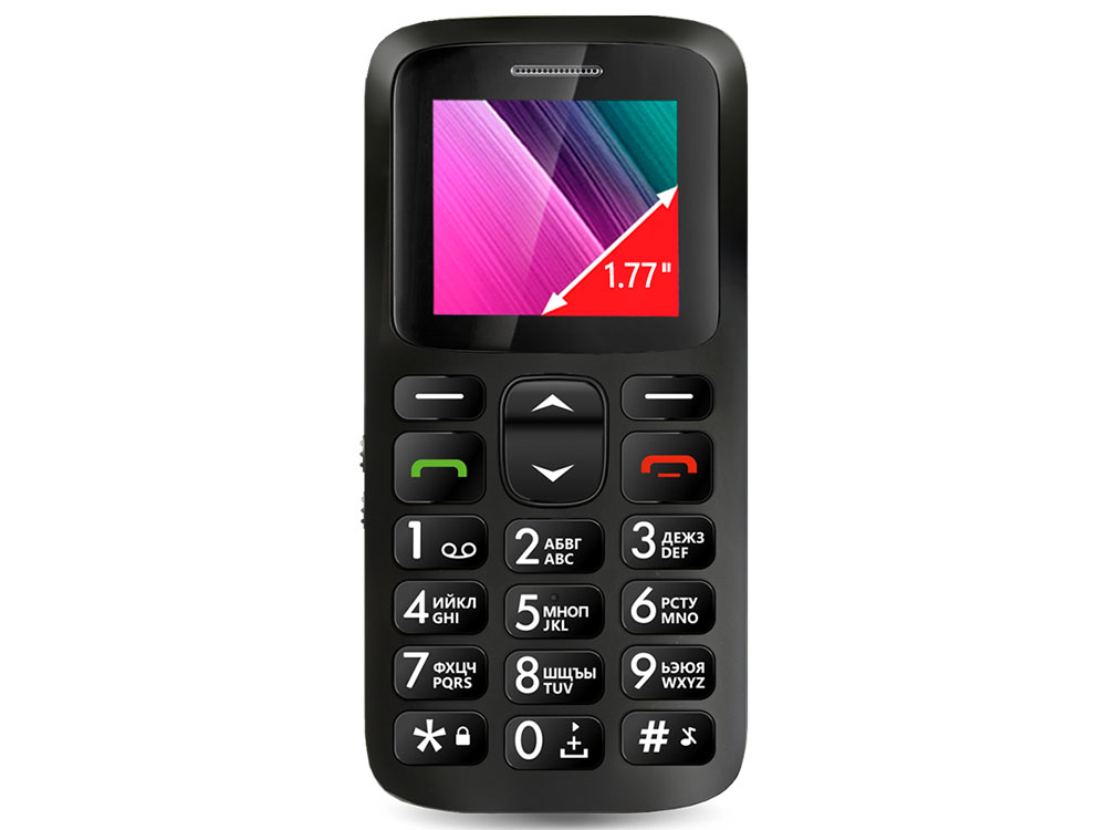 Телефон GINZZU R11D черный 1SIM/1.77