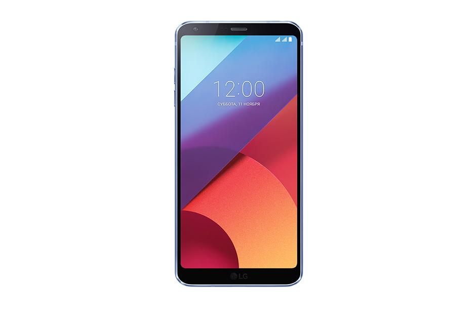 Смартфон LG H870S G6 32 Gb Blue Qualcomm Snapdrago 821, 2.35 ГГц/4Gb/32Gb/5.7 (2880 x1440)/3G/4G/13Mp+5Mp/Android 7.0 смартфон lg k100ds k3 4g 8gb dark blue