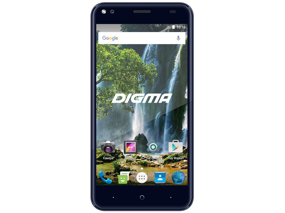 Смартфон Digma VOX E502 4G dark blue Spreadtrum SC9850 (1.3)/1 Gb/16 Gb/5 (1280x720)/DualSim/3G/4G/BT/Android 7.0 планшет digma plane 1601 3g ps1060mg black