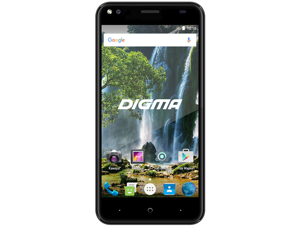 Фото Смартфон Digma VOX E502 4G Black Spreadtrum SC9850 (1.3)/1 Gb/16 Gb/5 (1280x720)/DualSim/3G/4G/BT/Android 7.0 сотовый телефон digma linx a177 2g