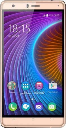 "Смартфон BQ 5503 NICE2 Gold MediaTek MT6737 (1.3) / 1GB / 8GB / 5.5"" 1280x720 IPS / 2Sim / 3G / 4G LTE / 13Mp, 5Mp / Android 7.0 смартфон micromax bolt q346 lite 3g 8gb blue"