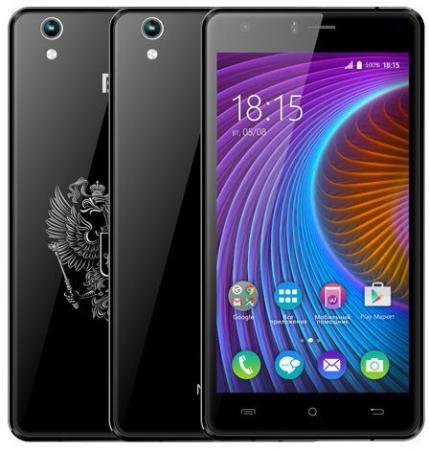 Смартфон BQ-5503 Nice 2 (Black) MediaTek MT6737 (1.3)/1GB/8GB/5.5 1280х720 IPS/4G LTE/2Sim/13Mp, 5Mp Cam/Android 7.0 смартфон motorola moto c plus xt1723 5 hd ips 1280х720 mediatek mt6737 1 3ghz 1gb 16gb 4g lte wifi bt sd 8mp android 7 0 whole gold
