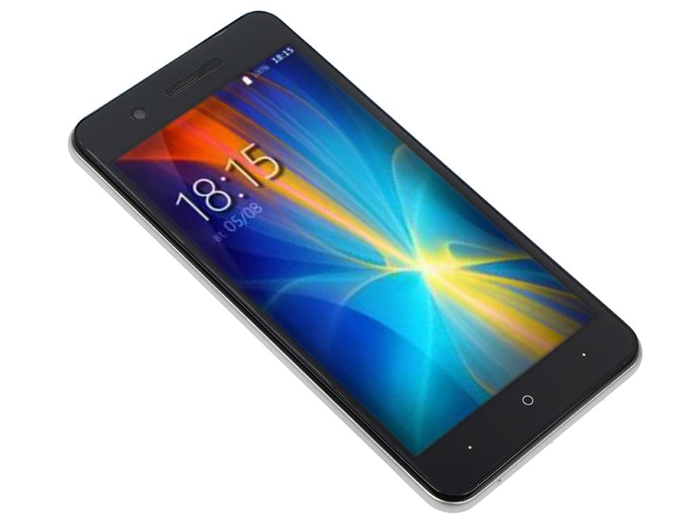 Смартфон BQ-5044 Strike LTE (Silver) MediaTek MT6737 (1.3)/1GB/8GB/5.0 1280х720 IPS/4G LTE/2Sim/13Mp, 8Mp Cam/Android 7.0 смартфон bq 5044 strike lte