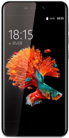 Смартфон BQ-5037 Strike Power 4G (Grey) Qualcomm Snapdragon 210 (1.1)/1GB/8GB/5.0 1280х720 IPS/4G LTE/2Sim/13Mp, 5Mp Cam/Android 6.0 смартфон bq 5037 strike power золотой