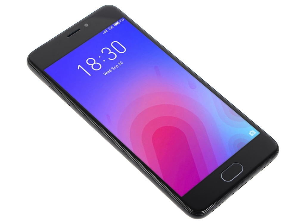 Смартфон Meizu M6 Black, M711H, 5.2'' 1280x720, 1.0GHz+1.5GHz, 8 Core, 2/16GB, up to 128GB, 13Mp/8Mp, 2 Sim, 2G, 3G, LTE, BT, Wi-Fi, GPS, Glonass, 307 смартфон meizu m5 note серебристый 5 5 32 гб lte wi fi gps 3g