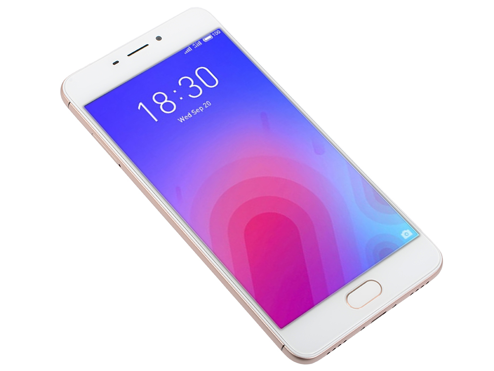 Смартфон Meizu M6 Gold, M711H, 5.2'' 1280x720, 1.0GHz+1.5GHz, 8 Core, 2/16GB, up to 128GB, 13Mp/8Mp, 2 Sim, 2G, 3G, LTE, BT, Wi-Fi, GPS, Glonass, 3070 смартфон meizu m5 note серебристый 5 5 32 гб lte wi fi gps 3g
