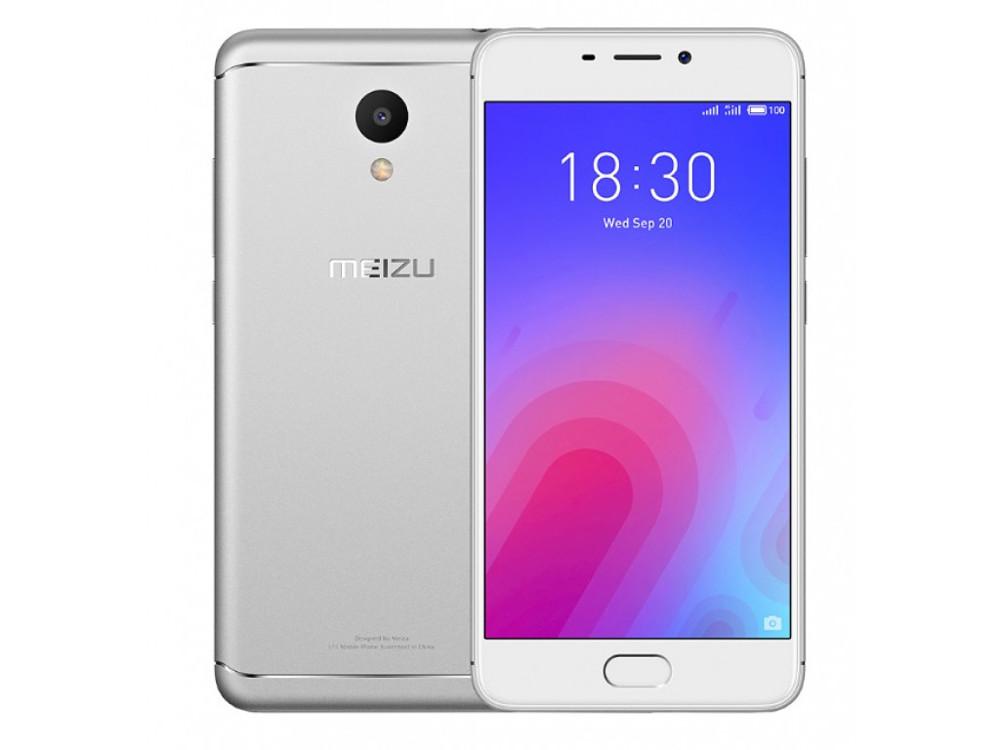 Смартфон Meizu M6 Silver, M711H, 5.2'' 1280x720, 1.0GHz+1.5GHz, 8 Core, 2/16GB, up to 128GB, 13Mp/8Mp, 2 Sim, 2G, 3G, LTE, BT, Wi-Fi, GPS, Glonass, 30 смартфон meizu m6 16gb m711h серебристый