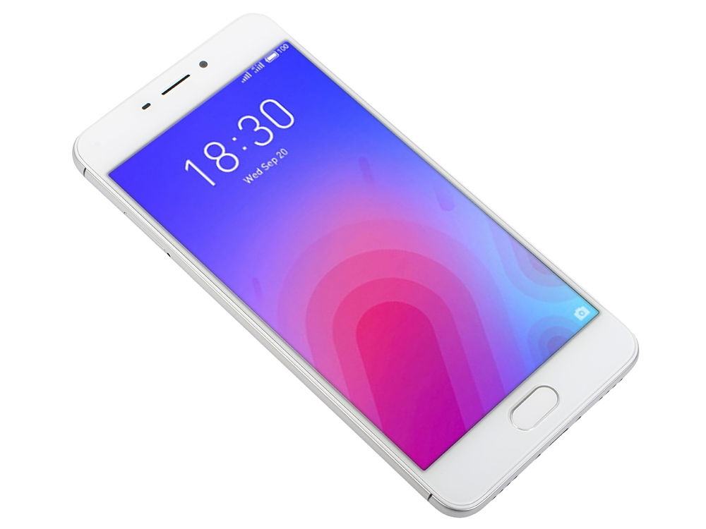 Смартфон Meizu M6 Silver, M711H, 5.2'' 1280x720, 1.0GHz+1.5GHz, 8 Core, 2/32GB, up to 128GB, 13Mp/8Mp, 2 Sim, 2G, 3G, LTE, BT, Wi-Fi, GPS, Glonass, 30