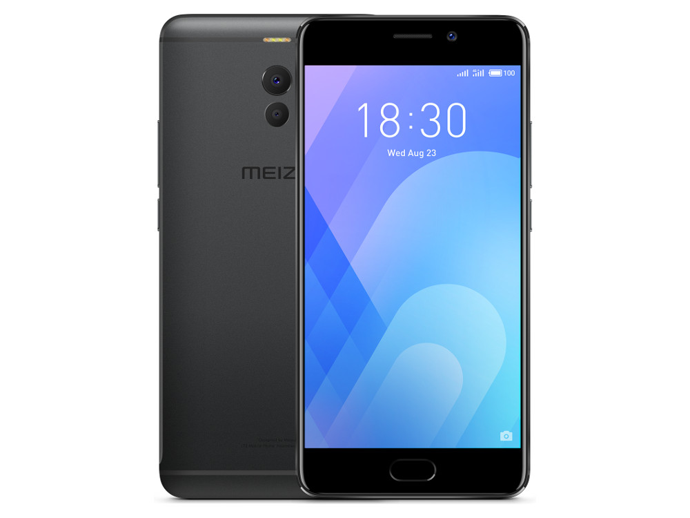 Смартфон Meizu M6 Note (M721H_32Gb_Black) Snapdragon 625 (2.0) / 3Gb / 32Gb / 5.5 1920x1080 / 2SIM / 3G / 4G LTE / 12Mp+5Mp, 16Mp Cam / Android 7.1 (Black) смартфон meizu meilan x 3gb 32gb