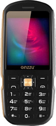 Защищенный телефон Ginzzu R1D Black 2.4 (320x400)/microSD/BT/IP56/1.3Mpix защищенный мобильный телефон ginzzu r1d champagne 2 4 tft 320x400 1sim 2g 1 3mp fm bt ip56 800mah