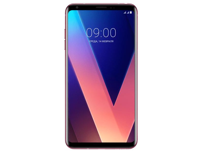 Смартфон LG H930DS V30+ LGH930DS.ACISRP Pink Qualcomm Snapdragon 835 (2.45+1.9)/128 Gb/4 Gb/6 (1440x2880)/DualSim/3G/4G/BT/Android 7.1