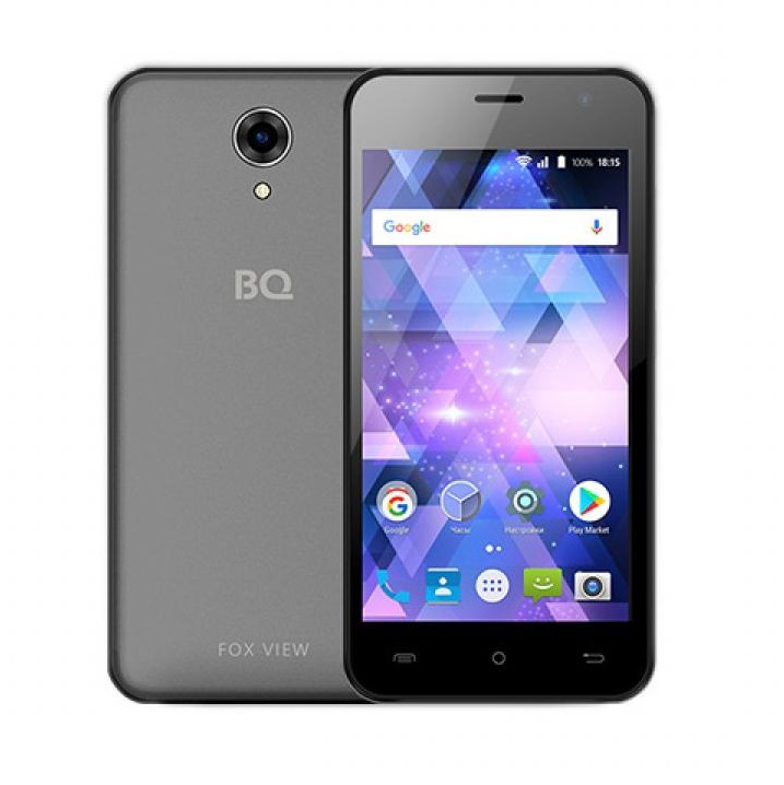 Смартфон BQ 4585 Fox View Titanium Gray Spreadtrum SC7731c (1.3)/8 Gb/1 Gb/4,5 (854x480)/DualSim/3G/BT/Android 7.0 смартфон digma hit q500 3g ht5035pg gold spreadtrum sc7731c 1 3 8 gb 1 gb 5 854x480 dualsim 3g bt android 7 0