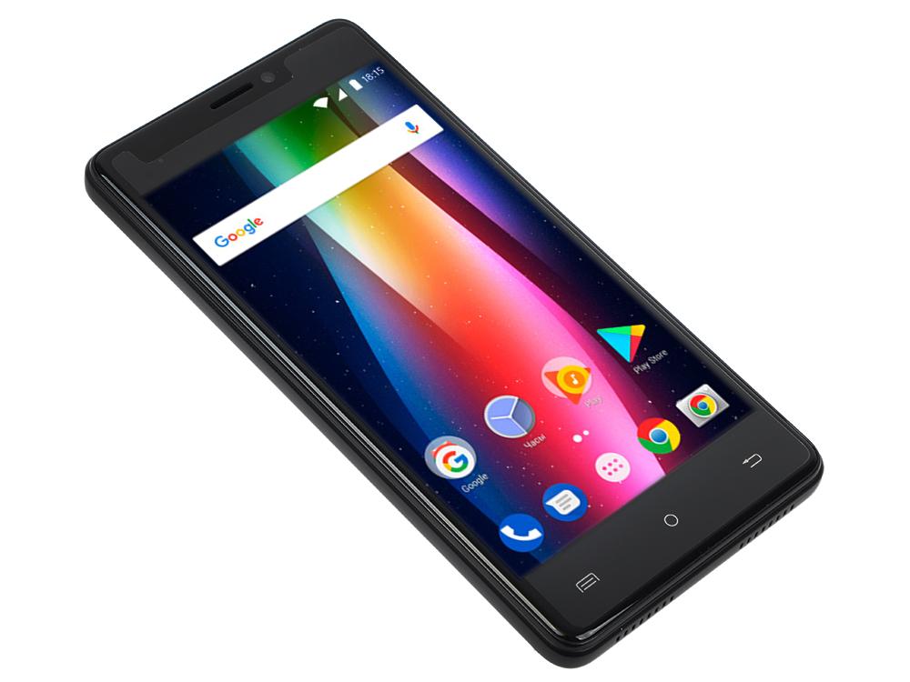 Смартфон BQ 5005L Intense Black Brushed MediaTek MTK6737/16 Gb/2 Gb/ 5 (1280x720)/DualSim/3G/4G/Android 7.0 смартфон philips x588 black mediatek mt6750 1 5 32 gb 3 gb 5 1280x720 dualsim 3g 4g bt android 6 0